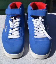 FILA MEN'S BLUE WITH RED & WHITE SNEAKER 1VF80060-429 SZ 9