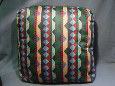 3 DECORATIVE THROW PILLOWS STRIPED RED/GREEN/TAN/BLUE 17 X 17