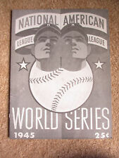 1945 World Series Chicago Cubs Detroit Tigers Program Reprint