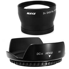 Screw 52mm Lens Hood Flower Petal,Telephoto Lens for NIKON D40 D50 D80 55-200mm