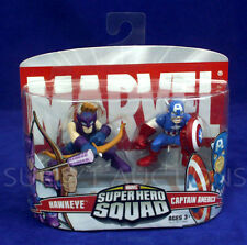 Avengers HAWKEYE & CAPTAIN AMERICA Marvel Super Hero Squad Figures 2006 - NEW