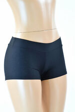 SMALL Mid Rise Black Zen Soft Knit Performance Rave Party Shorts Ready To Ship!