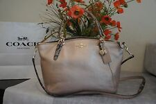 NWT COACH F55514 METALLIC EXOTIC LEATHER SMALL KELSEY CROSSBODY HANDBAG