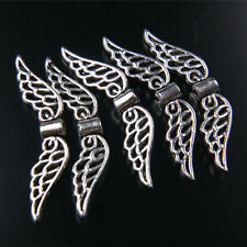 50pcs 32mm Charms Angel Wing Spacer Beads Tibet Silver DIY Jewelry Pendant A7406