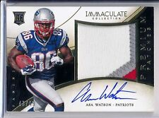 ASA- WATSON - 2014 Panini IMMACULATE Premium Patches 3 Color RPA - Patriots /49