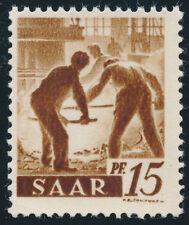 SAARLAND, MiNr. 230 II fA G, Gummidruck, postfrisch, Befund Geigle, Mi. 250,-