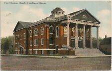 First Christian Church in Hutchinson KS Postcard 1911