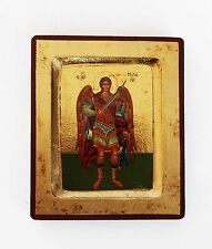Greek Russian Orthodox Lithography Icon Archangel Michael 12.5x10cm