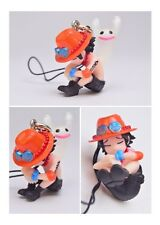 One Piece Mascot Swing PVC Negative Horo Keychain Portgas D Ace Figure @92195