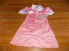 Size Ages 3-6 Melissa & Doug Waitress 50's Diner Pink Role Play Costume Dress