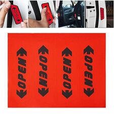 4PCS Auto Stickers Reflective Car Door Opening Warning Safety Tips Decals Sign