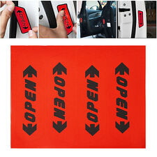 4x Red Reflective Car Door Open Decal Safety Warning Stickers Auto Accessories