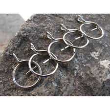 5PCS Stainless Steel G Shape Split Key Ring Chain Hoop keychain Supplies