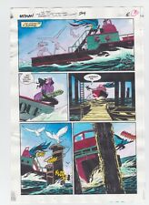 BATMAN #504 PAGE 6 ORIGINAL COMIC PRODUCTION ART COLOR GUIDE CODE FREE CATWOMAN
