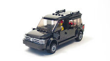 Lego Custom Black SUV  Seats 4  City Town