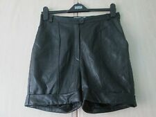 ladies SUPER BUTTERSOFT LAMBSKIN BLACK LEATHER SHORTS UK SIZE 12 EUR 40