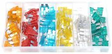 120pc Assorted Auto Fuse Set MINI Blades Car Van 5 10 15 20 25 30 Amp With Case