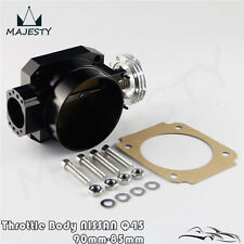 Universal 90MM - 85MM Q45 Throttle Body Intake FOR RB25DET RB26DET RB20 GTS BK