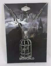 New Harry Potter Hedwig Owl In Cage Hematite Chain Pendant Necklace