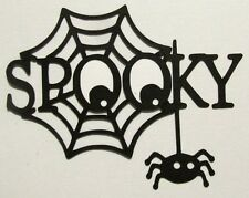14 HALLOWEEN Spooky Web Title Die cut Embellishment Paper piecing 4 Cards Crafts