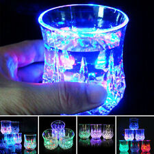 Induktiv Bunt LED Wein Whisky Cup Blinklicht Glas Bar-Party Getränk Mug
