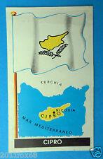 figurines stickers picture cards figurine bandiere del mondo 13 cipro la folgore