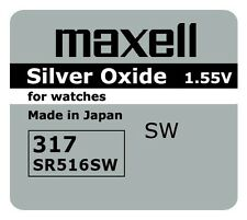 2 NEW SR516SW 317 Silver Oxide 1.55V Watch Battery Made in Japan FREE SHIPPING