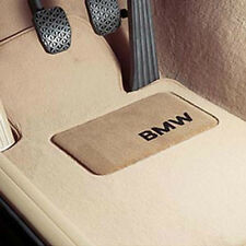 BMW OEM Beige Carpet Floor Mats Heel Pad E46 3 Series Convertible 82110021272