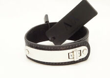 New Mens A/X Logo Leather Bracelet by Armani Exchange NWT #A6BR801