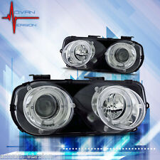 94-97 Acura Integra DC2 LS GS R JDM Dual Halo Projectors Chrome Head Lights PAIR