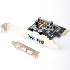 2 USB3.0 ports 15-pin SATA Power Connector Low Profile Bracket PCI Express Card