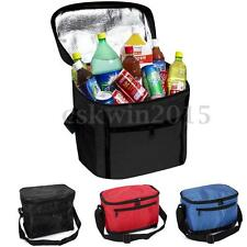 Black Thermal Cooler Waterproof Insulated Portable Picnic Travel Lunch Ice Bag