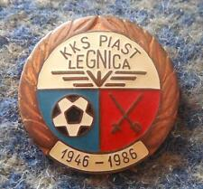 PIAST LEGNICA 40 ANNIVERSARY POLAND FENCING SOCCER FOOTBALL BRONZE VERS. PIN