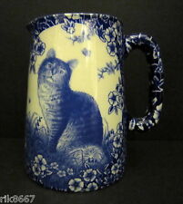 Heron Cross Pottery Calico Cat Chintz English 1/2 Pint Milk Jug