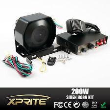 Xprite G2 200W 12V Loud Speaker PA Horn Siren System Mic Kit Police Fire Truck