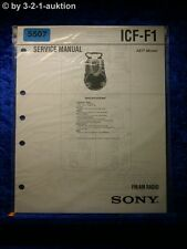 Sony Service Manual ICF F1 Radio (#5507)