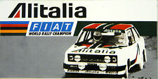 Alitalia Fiat 131 Abarth Rally / Motorsport Sticker Decal