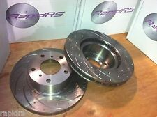 SLOTTED DISC BRAKE ROTORS TO SUIT NISSAN 300ZX Z32 REAR PAIR ULTIMATE PERFORMAN