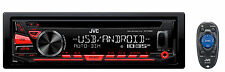 JVC KD-R480 Single-Din In Dash Car CD Receiver Stereo Radio w/ USB/AUX/AM/FM