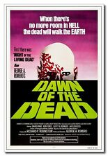 1978 Dawn of the Dead 24x16 inch Old Movie Silk Poster Horror Zombie Wall Decals