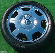 4 Genuine Original OEM Rolls-Royce PHANTOM Chrome DROPHEAD 21 Wheels Tires TPMS