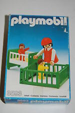 Playmobil 3593 Mother and child Madre e hijo Cuna y parque infantil OVP