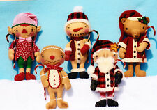 PATTERN - Christmas Gathering Boys - cloth doll/softie/toy/Christmas PATTERN
