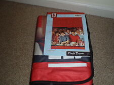 "ONE DIRECTION RED  Fleece Blanket Bed Plush Throw Size 50"" x 60"" VALENTINES RED"