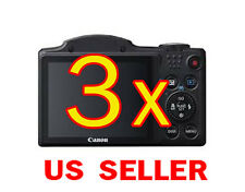 3x Canon PowerShot SX500 IS Camera Clear LCD Screen Protector Guard Shield Film