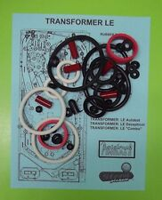 Stern Transformers LE pinball rubber ring kit