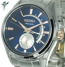 SEIKO PRESAGE AUTO LIMITED EDITION BLUE FACE & STAINLESS STEEL BRACELET SSA309J1