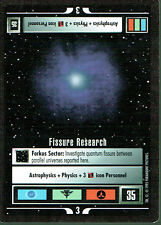 STAR TREK CCG ALTERNATE UNIVERSE RARE CARD FISSURE RESEARCH