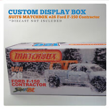 CUSTOM  120 BOX | Suits MATCHBOX FORD F-150 CONTRACTOR - NO 26. | BOX ONLY