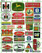 5012 DAVE'S DECALS HO RURAL FARM TRACTOR ADVERTISING SIGNAGE ASSORTED NAMES.